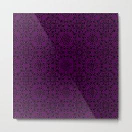 Plum Purple Lace Metal Print