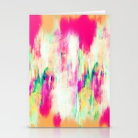 sia Stationery Cards featuring Electric Haze by Amy Sia