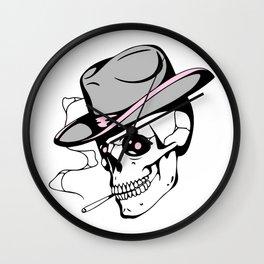 Pink eye skull Wall Clock