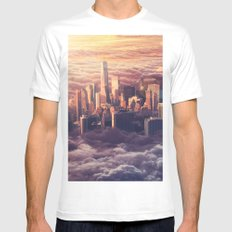 New York: Through The Roof MEDIUM Mens Fitted Tee White