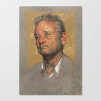 bill murray Canvas Prints featuring Bill Murray by Sam Spratt