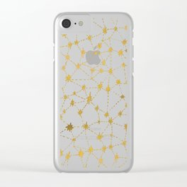 Stars Map Clear iPhone Case