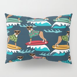 Boxer surfing pattern cute pet gifts dog lovers boxer dog Pillow Sham