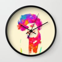 harry Wall Clocks featuring Harry by deff