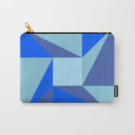 post modern square star blue  Carry-All Pouch