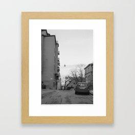 Streets in Stockholm Framed Art Print