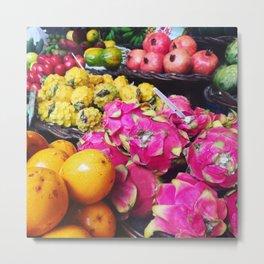 Funchal Fruit Market Metal Print