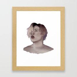 cotton candy jay Framed Art Print