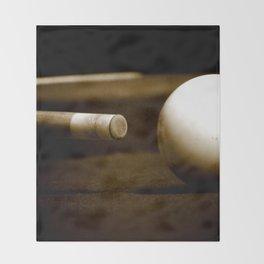 Pool Table-Sepia Throw Blanket