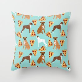 boxer pizza dog lover pet gifts cute boxers pure breeds Throw Pillow
