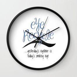 Eye Recycle Wall Clock