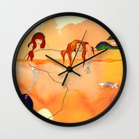 mermaids Wall Clocks featuring Mermaids by Leah Gonzales