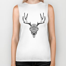 Deer Skull Biker Tank
