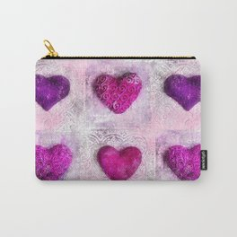 Pink Passion colorful heart pattern Carry-All Pouch