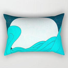 The Moon and the Sea Rectangular Pillow