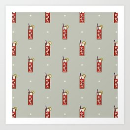 Mixed Pattern - Icon Prints: Drinks Series Art Print
