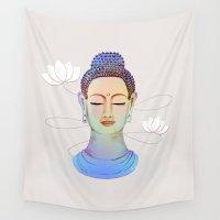 buddha Wall Tapestries featuring Buddha by Vanya