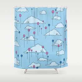 Balloons Shower Curtain