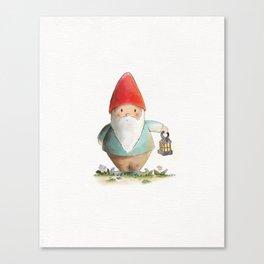Lantern Gnome Canvas Print