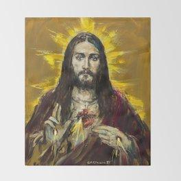 Cor Jesu Sacratissimum Throw Blanket