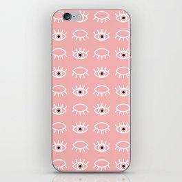 Eyes Wide Open Pink iPhone Skin
