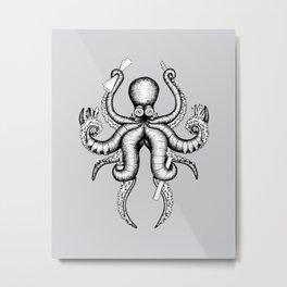 Multitasker Metal Print