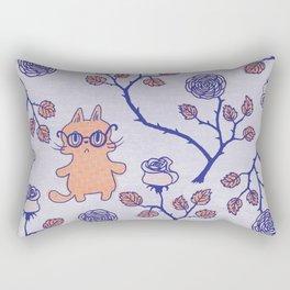 Philosophical cat Rectangular Pillow