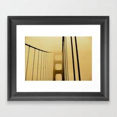 SF Golden Gate Bridge  Framed Art Print