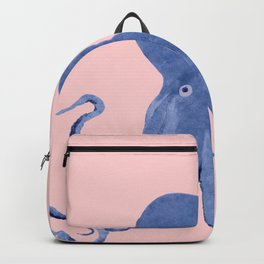 Blue Octopus and Butterfly Backpack