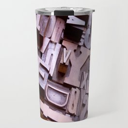 3D Letters - Typography Photography™ Travel Mug