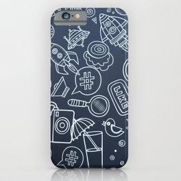 Internet Cafe Pattern iPhone Case