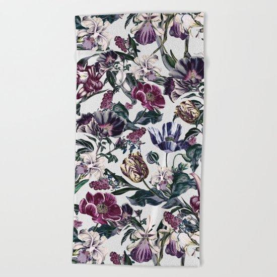 Fractal Floral Beach Towel