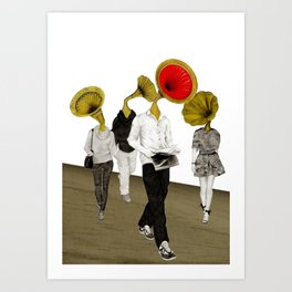 Grammoheads Art Print