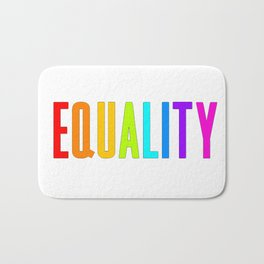 EQUALITY RAINBOW GAY Bath Mat