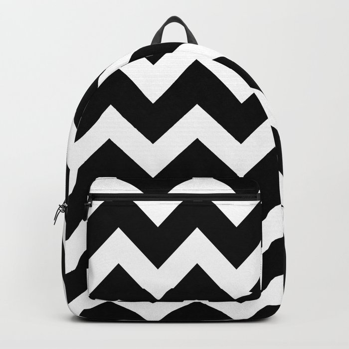Chevron Black & White Backpack