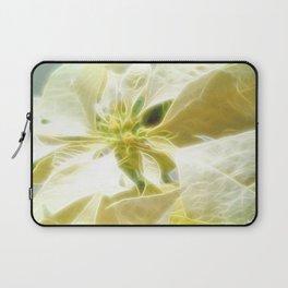 Pale Yellow Poinsettia 1 Angelic Laptop Sleeve