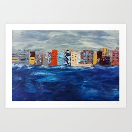 City Near The Sea Art Print
