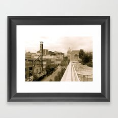 Above State Street - Madison, Wisconsin Framed Art Print