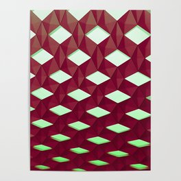 Trapez 4/5 Red and green by Brian Vegas Poster