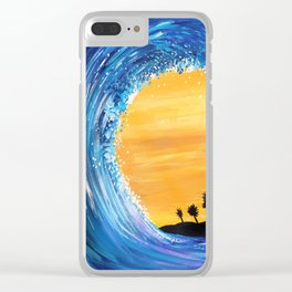 Tidal Wave Clear iPhone Case