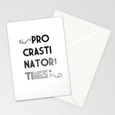 The Procrastinator (some) Times Stationery Cards