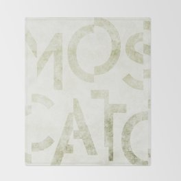 Moscato Wine Typography Throw Blanket