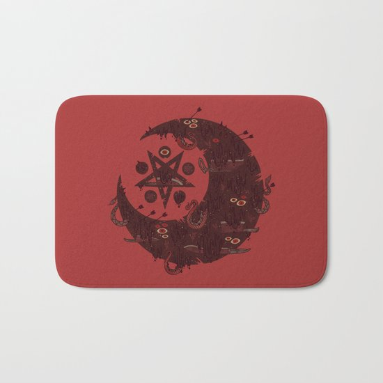 The Dark Moon Compels You to Fuck Shit Up Bath Mat