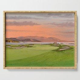 Pebble Beach Golf Course Hole 17 Serving Tray