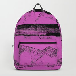 Knik River Mts. Pop Art - 5 Backpack