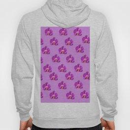 Purple Butterfly Orchids Patterns Golden Art Hoody