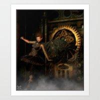Fae of the Ticker Clocks Art Print