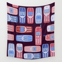 Vintage Cellphone Reactions Wall Tapestry