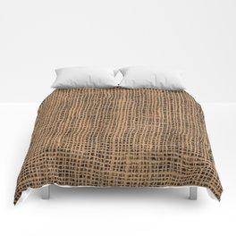 Burlap Grid Comforters