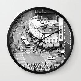 Street people in New York Wall Clock